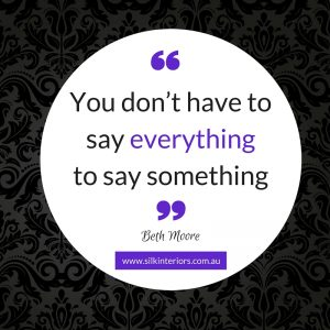 You don't have to say everything to say something
