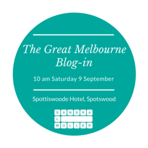 Great Melbourne Blog in V4 Saturday 9 September from 10am