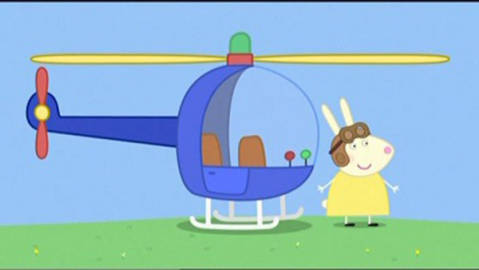 Miss Rabbit and her rescue helicopter