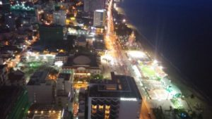 Nha Trang Beach by night from our apartment
