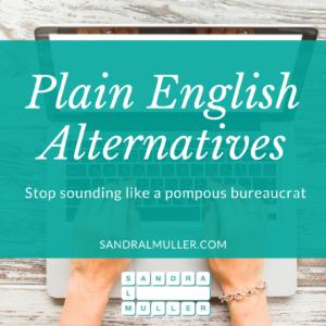 Plain English Alternative Words