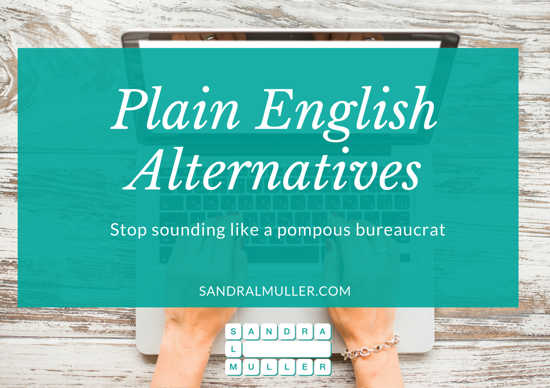 Plain English Alternative Words