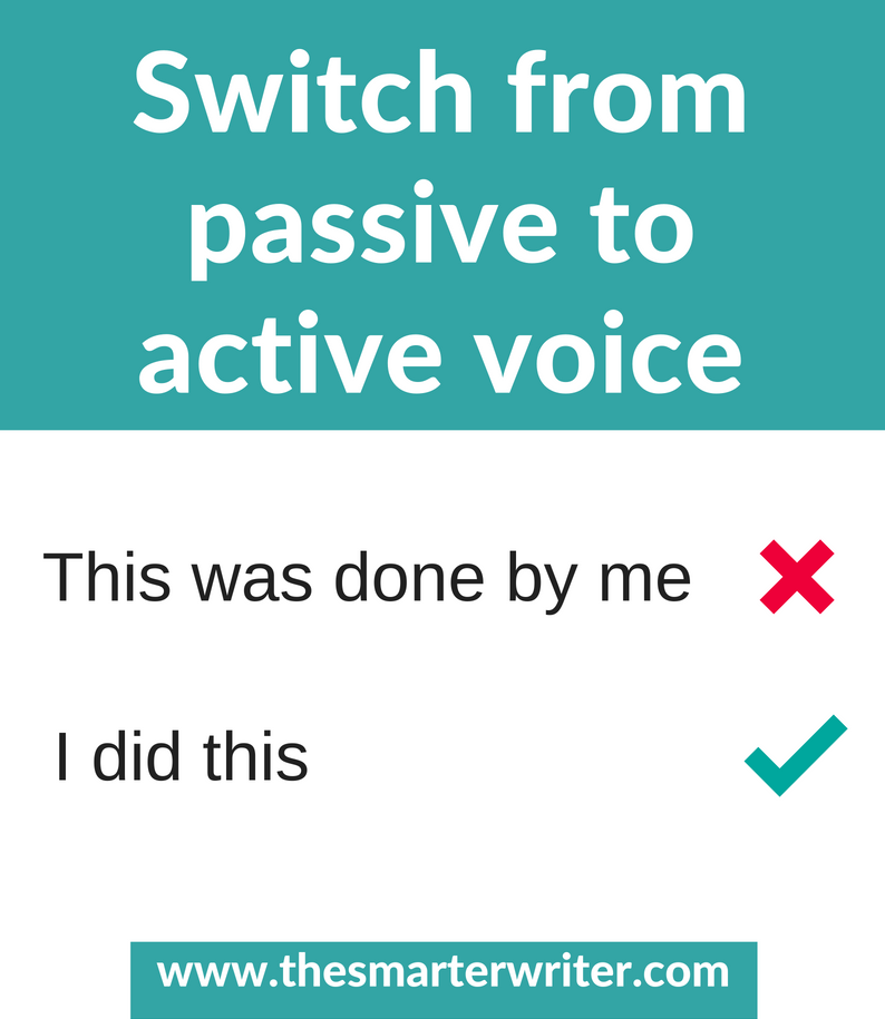 Switch from passive to active voice