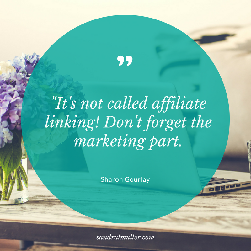 "It's not called ""affiliate linking"" - don't forget the marketing part"