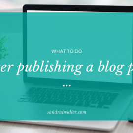 What to do after you publish a blog post