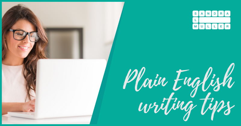 Plain English writing tips