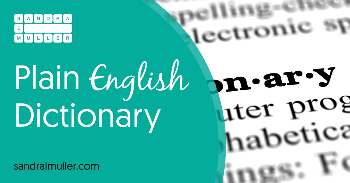 Plain English Dictionary