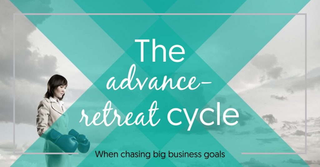 The advance-retreat cycle when chasing big goals