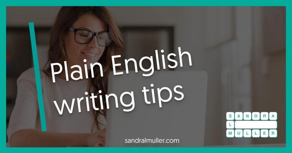 Plain English writing tips